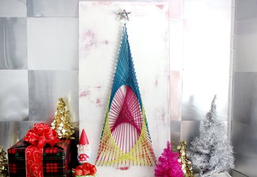 String Art Christmas Tree Tutorial