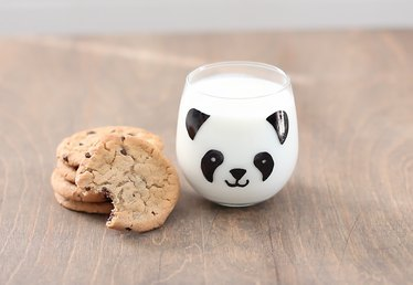 DIY The Most Adorable Milk Glasses Ever