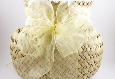 How to Make Ribbon Bows for Gift Baskets