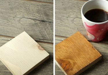 """Easiest Way To """"Stain"""" Wood With Coffee Tutorial"""