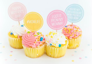 DIY Printable Mother's Day Cake Toppers