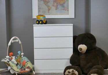 How to Secure a Dresser to the Wall for Childproofing