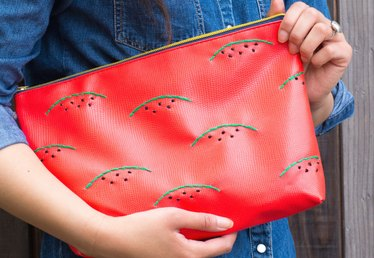 How to Make a Watermelon Embroidered Clutch