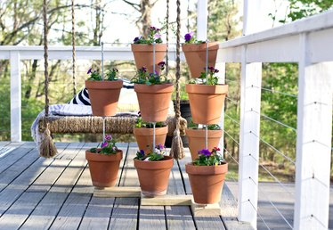 How to Make a Vertical Clay Pot Garden