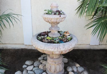 How to Convert a Fountain Into a Garden Planter