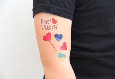 Printable Valentine's Day Temporary Tattoos