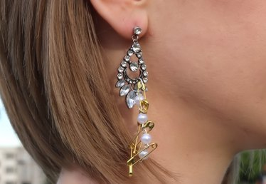 DIY Punk Chic Rhinestone Earrings