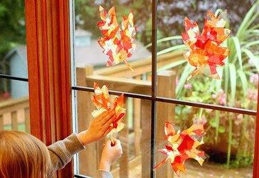 How to Make Beautiful Leaf Suncatchers