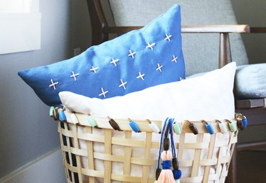 Give an Inexpensive IKEA Basket a Colorful Makeover
