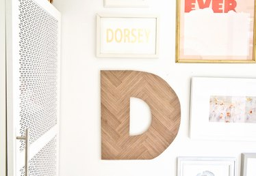 How to Make Decorative Herringbone Wood Letters