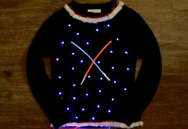 DIY Light-Up Star Wars Christmas Sweater