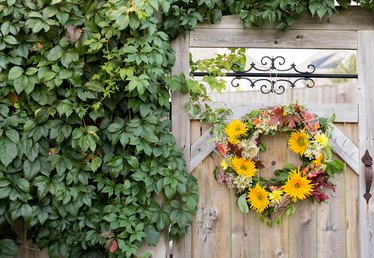 Make a Beautiful Fall Wreath Using Fresh Flowers