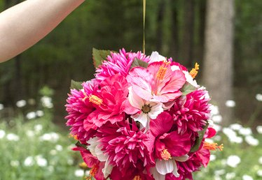 How to Make Hanging Flower Balls
