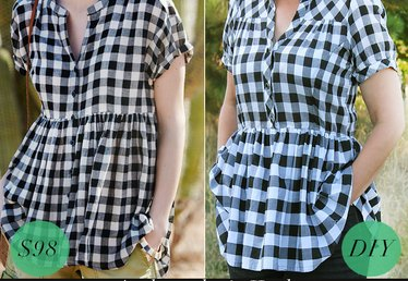 Transform a Plain Shirt Into a Trendy Swing Top