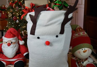 How to Make a Reindeer Santa Bag
