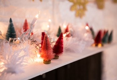 How to Make Bottle Brush Christmas Trees