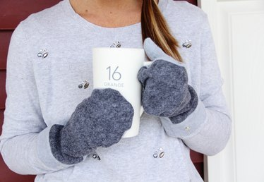 How to Make Felted Wool and Fleece Mittens (With Free Pattern)