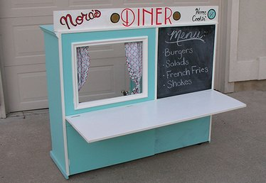 Turn an Old Cabinet into a Kid's Diner