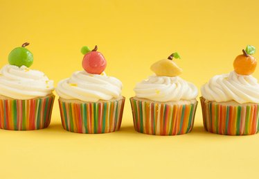 Edible Citrus-Shaped Cupcake Toppers