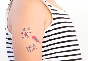 Free Printable 4th of July Tattoos (For Kids!)