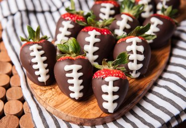 Chocolate Covered Strawberry Footballs Recipe