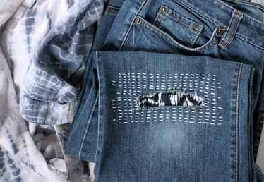 How to Do Sashiko Denim Mending