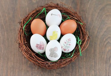 DIY Temporary Tattoo Easter Eggs (Free Printable)