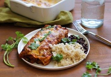 Vegetarian Sweet Potato Black Bean Enchilada Recipe