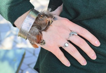 DIY Feather Bracelets