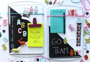 Turn a Cookie Sheet Into a Memo Board