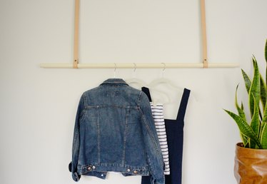 Do-It-Yourself Hanging Clothing Rack