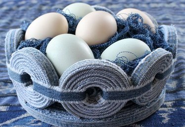 Refashioned Denim Easter Basket