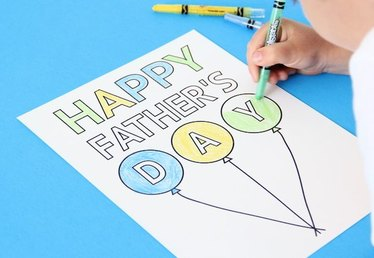 Father's Day DIY Card and Activity Placemat