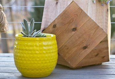 How to Make Geometric Planter Boxes for Your Patio