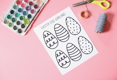 Easy DIY Egg Garland for Kids to Make