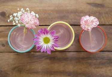 How to Make Fresh Floral Drink Stirrers