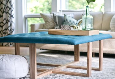 How to Build a Tufted Ottoman Coffee Table