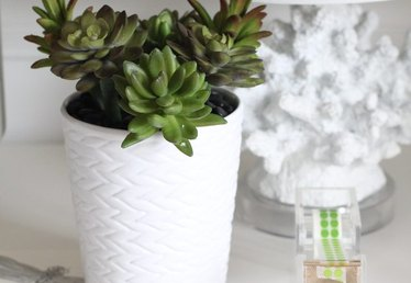 How to Make a Faux Succulent Pen Planter