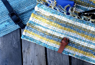 Upcycled No-Sew Clutch From a Placemat and Belt
