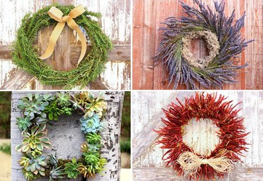 5 Easy-to-Make Christmas Wreaths Your Front Door Needs