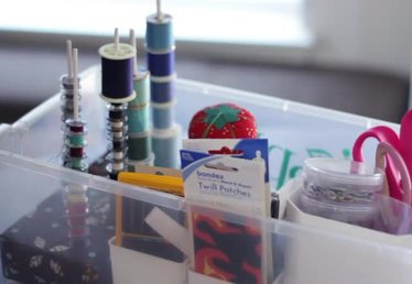 How to Make Sewing Room Organizers