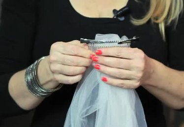 How to Connect a Wedding Veil to Your Hair Combs