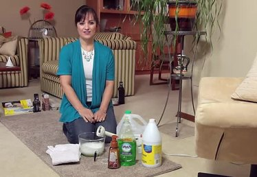 Old-Fashioned, Homemade Carpet Shampoo Cleaning