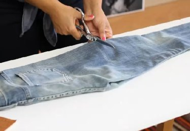 DIY Deconstructed Jeans