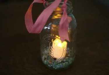 How to Make a Hanging Mason Jar Candle Holder