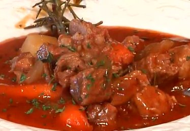 Beef Stew With Tomato Sauce in a Crock-Pot or Slow Cooker