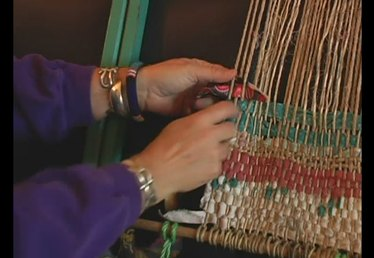How to Lay a Rag on a Frame Loom