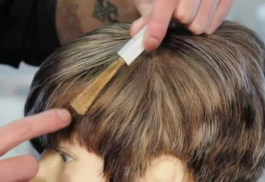 How to Cover Gray With Highlights of Light Brown Hair