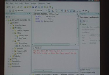 Using the Query Builder in SQL Server