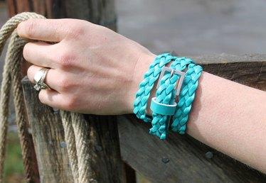 DIY: Two Upcycled Belt Bracelets